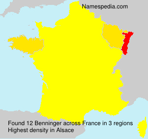 Surname Benninger in France