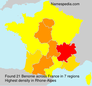 Surname Benonie in France