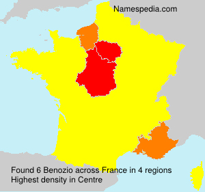 Surname Benozio in France