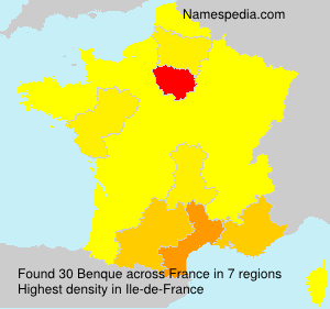 Surname Benque in France