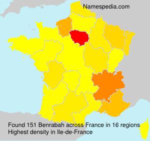 Surname Benrabah in France
