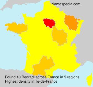 Surname Benradi in France