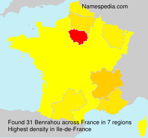 Surname Benrahou in France