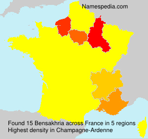 Surname Bensakhria in France