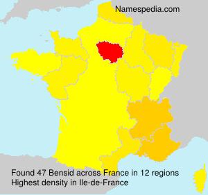 Surname Bensid in France