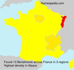 Familiennamen Benslimene - France