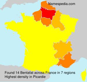 Surname Bentafat in France