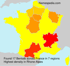 Surname Bentaib in France