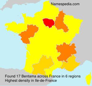 Surname Bentama in France