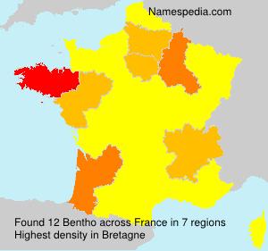 Surname Bentho in France