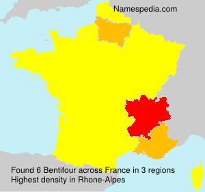 Familiennamen Bentifour - France