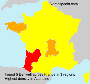 Familiennamen Benwell - France