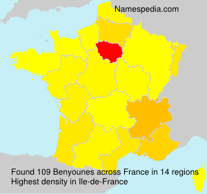 Surname Benyounes in France