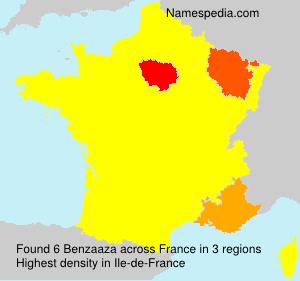 Familiennamen Benzaaza - France