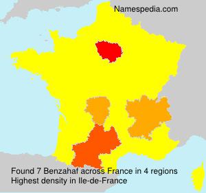 Familiennamen Benzahaf - France