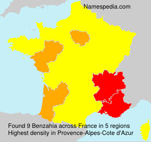 Surname Benzahia in France