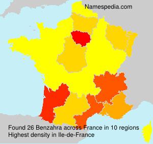 Familiennamen Benzahra - France
