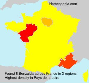 Familiennamen Benzaida - France