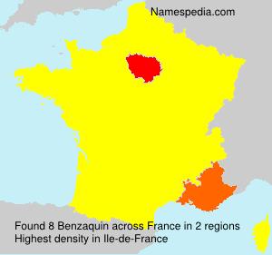 Familiennamen Benzaquin - France