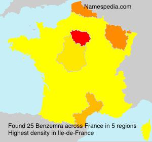 Familiennamen Benzemra - France