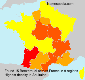 Familiennamen Benzeroual - France