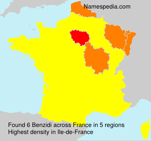 Surname Benzidi in France