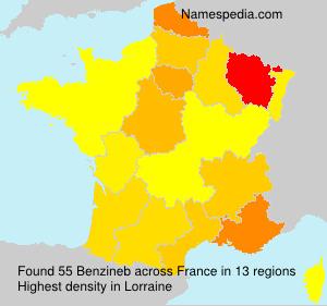 Familiennamen Benzineb - France