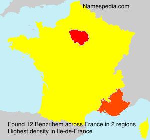 Familiennamen Benzrihem - France