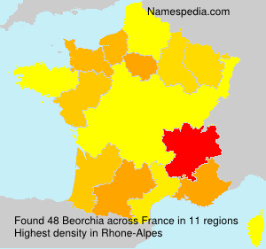 Surname Beorchia in France