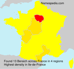 Familiennamen Beraich - France