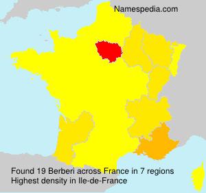 Surname Berberi in France