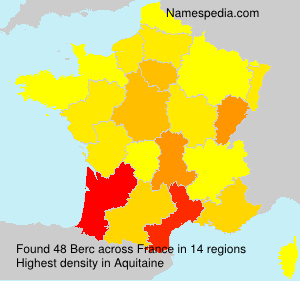 Surname Berc in France