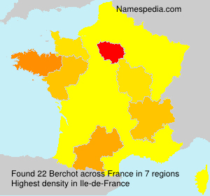 Surname Berchot in France