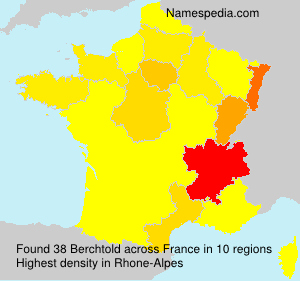 Surname Berchtold in France