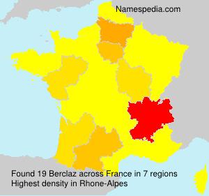 Surname Berclaz in France