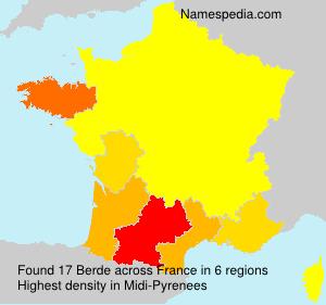 Surname Berde in France
