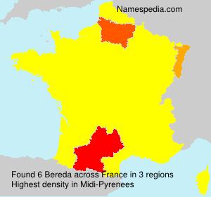 Surname Bereda in France