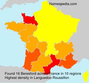 Surname Beresford in France