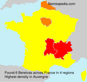 Surname Beretvas in France