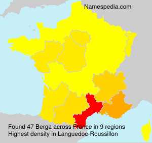 Surname Berga in France