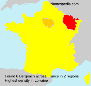 Surname Bergnach in France