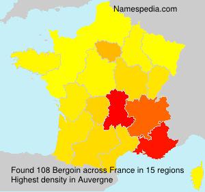 Surname Bergoin in France