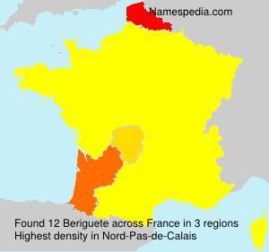 Surname Beriguete in France
