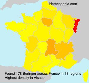 Surname Beringer in France