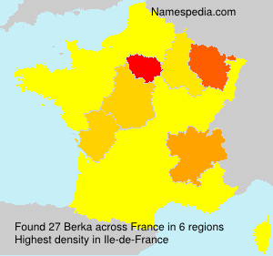 Surname Berka in France