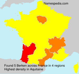 Surname Berken in France