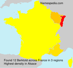 Surname Berktold in France
