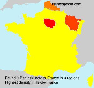 Surname Berlinski in France