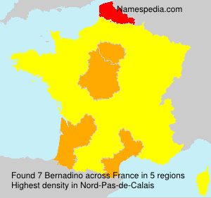 Surname Bernadino in France