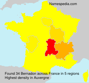 Surname Bernadon in France